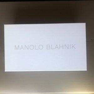 NWT empty authentic Manolo Blahnik shoe box